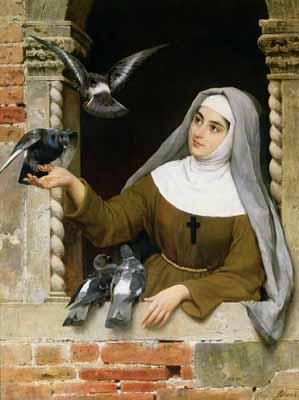 s82-016 Кормление голубей